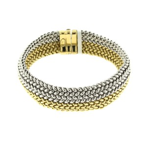 Citra 18k Yellow And White Gold Contemporary Bracelet