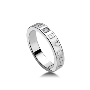 Bvlgari Bulgari 18K White Gold and Diamond Band Ring AN853348