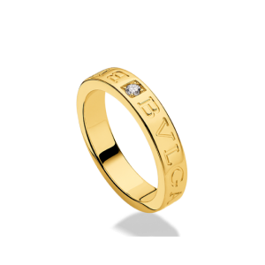 Bvlgari Bulgari 18K Yellow Gold and Diamond Band Ring AN854462