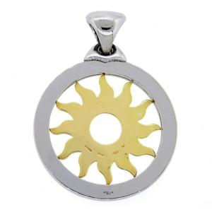 Bvlgari 18K Yellow Gold & Stainless Steel Tondo Sun Charm Pendant
