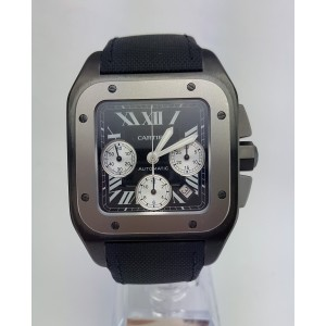 Cartier Santos W2020005 100 Titanium Mens Watch