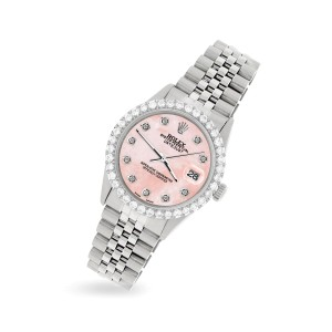 Rolex Datejust 36MM Steel Watch with 3.05Ct Diamond Bezel/Royal Pink Diamond Dial