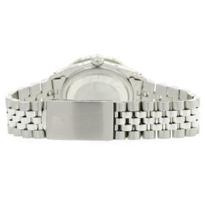 Rolex Datejust 36MM Steel Watch with 3.35CT Diamond Bezel/Silver Diamond Arabic Dial