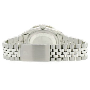Rolex Datejust 36MM Steel Watch with 3.3CT Diamond Bezel/Rhodium Grey Diamond Roman Dial