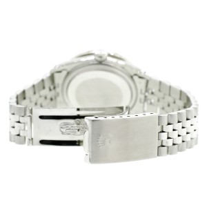 Rolex Datejust 36MM Steel Watch with 3.3CT Diamond Bezel/Green MOP Diamond Roman Dial