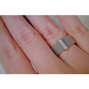 Tiffany & Co. Somerset Ring in Silver with Diamonds