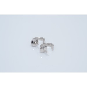 Cartier 18K White Gold Love Earrings