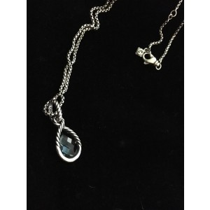 David Yurman Sterling Silver and Blue Topaz Hampton Necklace