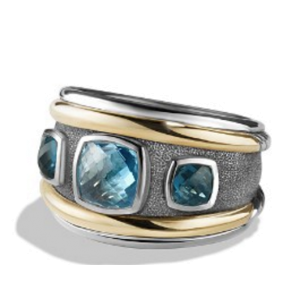 David Yurman Renaissance With Blue Topaz Ring