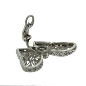 Kieselstein Cord Platinum Diamond Butterfly Earrings