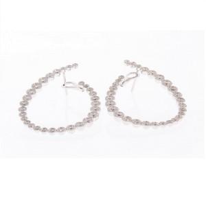 2.38 Carat Total Bezel Set Diamond Earrings in 18 Karat White Gold