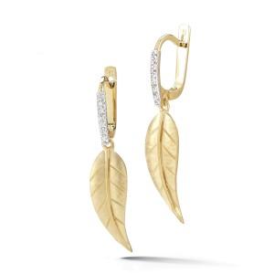 I.Reiss 14K Yellow Gold 0.11 Diamond Earrings