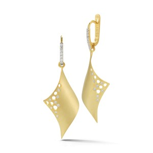 I.Reiss Satin-finish Curved-form Earrings