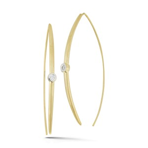 I.Reiss 14K Yellow Gold 0.1 Diamond Earrings