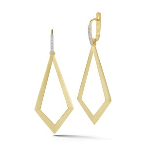 I.Reiss 14K Yellow Gold 0.15 Diamond Earrings
