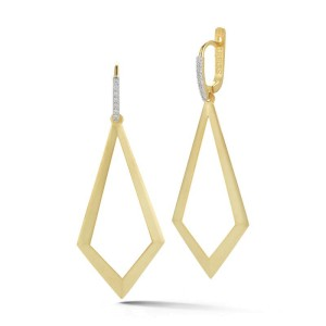 I.Reiss 14K Yellow Gold 0.15 Diamond Earrings