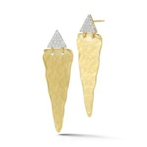 I.Reiss 14K Yellow Gold 0.2 Diamond Earrings