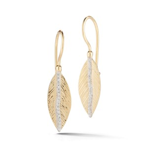 I.Reiss Polish And Textured-finished Feather Earrings