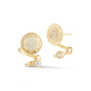 I.Reiss 14K Yellow Gold 0.27 Diamond Earrings