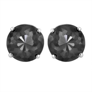 14K White Gold Luv Eclipse 1ct  Patented Cut Treated Black Diamond Earrings