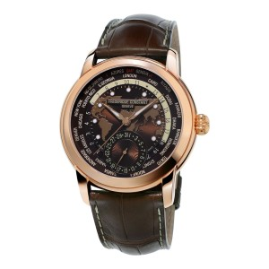 Frederique Constant Worldtimer FC-718BRWM4H4 42mm Mens Watch