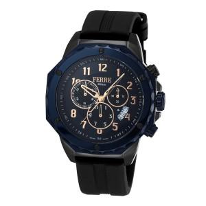 Ferre Milano Dark Blue Black Rubber FM1G071P0061 Watch