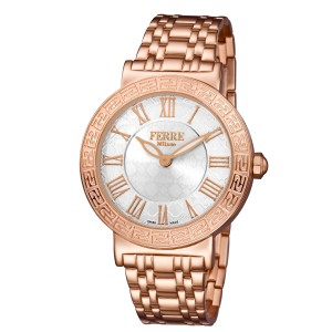 Ferre Milano White MOP Rose Gold Stainless Steel FM1L041M0081 Watch