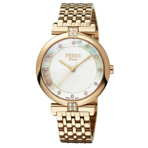 Ferre Milano White MOP Rose gold Stainless Steel FM1L065M0061 Watch
