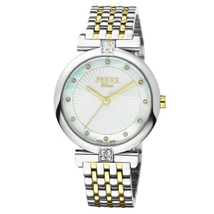 Ferre Milano White MOP Two Toned SS/IPYG Stainless Steel FM1L065M0071 Watch