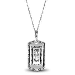 Luv Eclipse 925 Sterling Silver 0.43ct Diamond Pendant