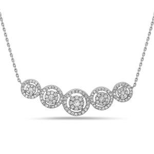 Crush & Fancy Martina 18k White Gold 0.69ctw. Diamond Necklace
