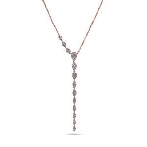 Crush & Fancy Melody 14k Rose Gold Diamond Necklace