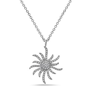 Crush & Fancy Halle 14k White Gold 0.25ctw. Diamond Necklace