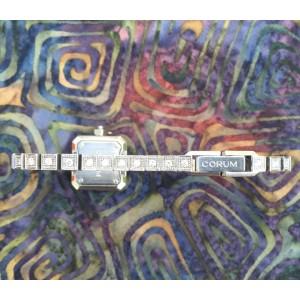 Corum Stainless Steel & Diamonds Bezel White Dial Womens Watch