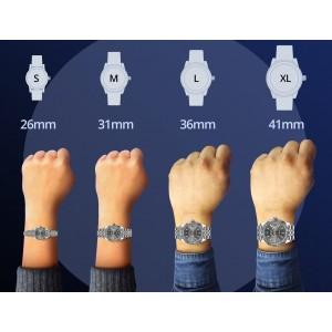 Rolex Datejust 36MM Steel Watch with 3.35CT Diamond Bezel/Sangria Diamond Arabic Dial