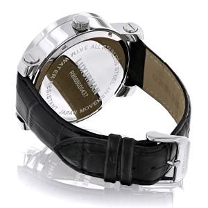 Luxurman Phantom 2135 Stainless-Steel Quartz .18ct Diamond Silver Dial Mens Watch