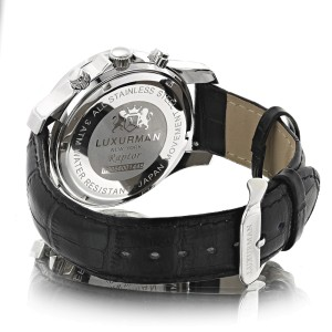 Luxurman Raptor 2174 Stainless-Steel Quartz 0.25ct Diamond White Dial Mother Of Pearl Mens Watch