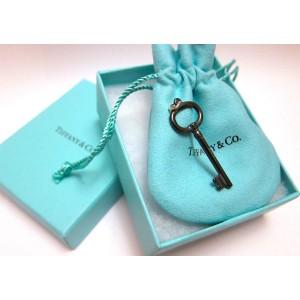 Tiffany & Co. Midnight Titanium Oval Key Pendant Size Medium