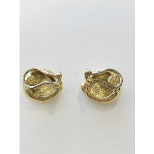 Tiffany And Co 18k Yellow Gold Bean Nugget Clip On Earrings