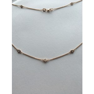 18K Rose Gold & 1ct Diamonds by the Inch Necklace