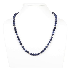Sodalite and 14K Gold Filled Bead Necklace
