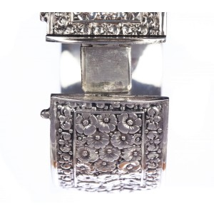 Repousse Sterling Silver Floral Bangle Bracelet