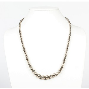 Graduated Sterling Silver Ball Bead Necklace
