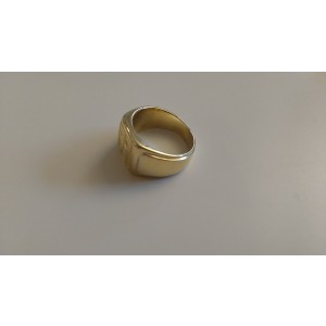 14k Yellow Gold Reverse Embossed FP Ring Size 9.5