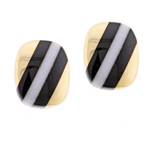Asch Grossbardt Hardstone Striped Earrings