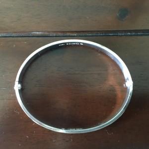 Cartier 18K White Gold Love Bracelet Sz 19