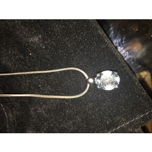 H. Stern 18K White Gold Aquamarine Pendant Necklace