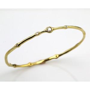 Ippolita 18K Yellow Gold & Diamond Bangle Bracelet