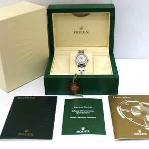 Rolex Datejust Ladies 26MM Mother of Pearl Diamond Dial & Bezel Automatic Stainless Steel Watch