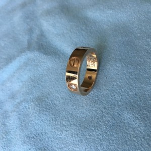 Cartier Rose Gold & Diamonds Ring Size: 54 or 6.75